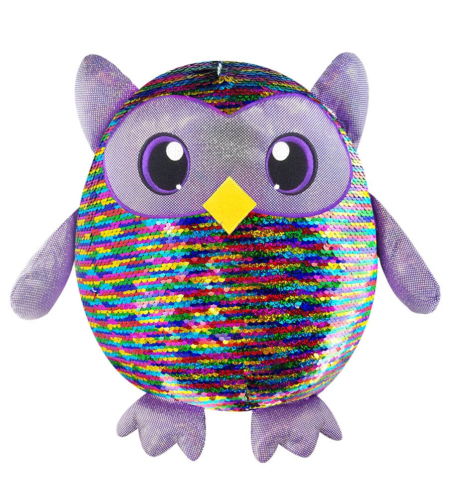 Shimmeez, Large Size Leo Owl, Sequin Plush Stuffed Animal