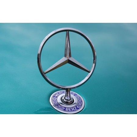 Bonnet Badge (Framed Art For Your Wall Badge Logo Automobile Car Mercedes Bonnet Classic 10x13)