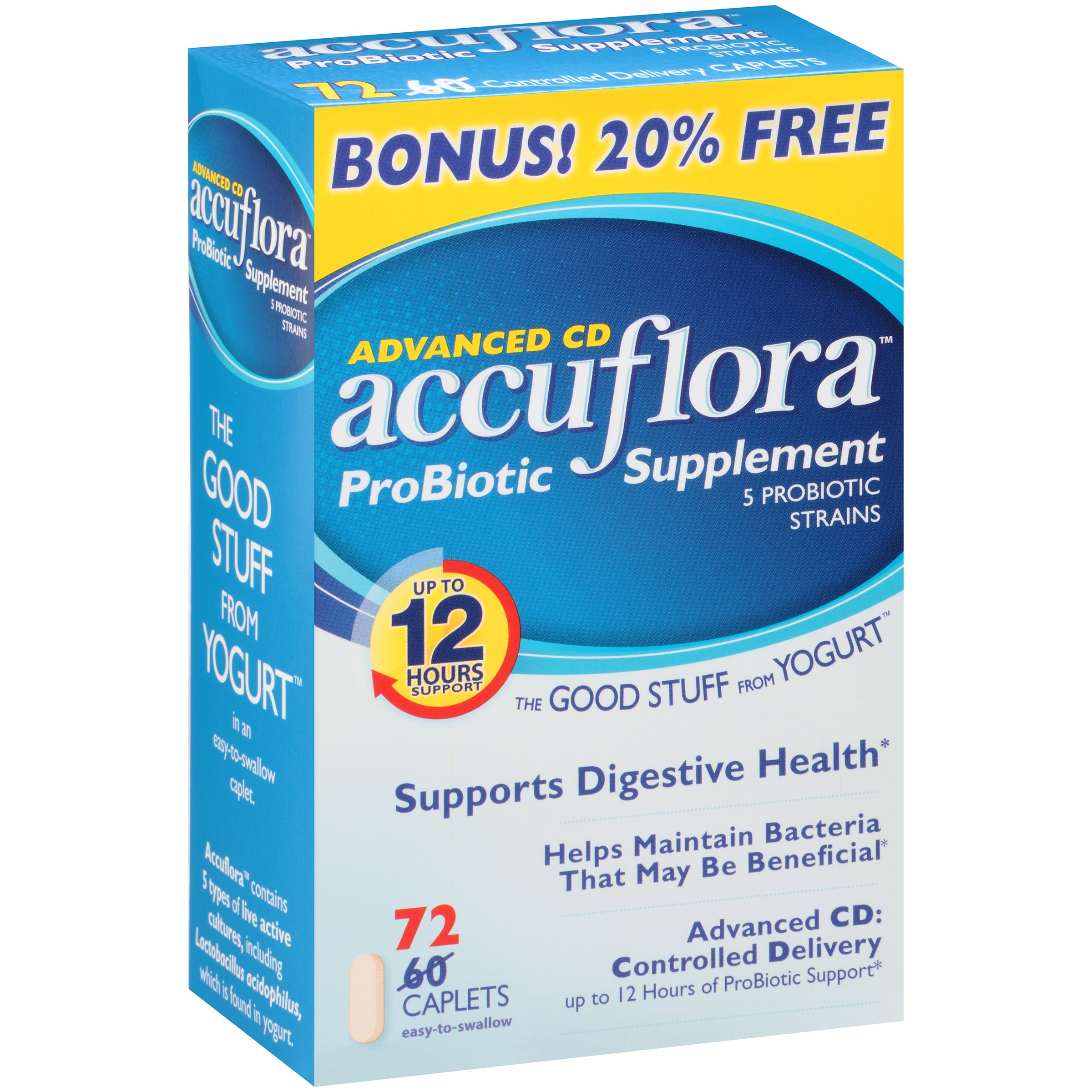 Image of Accufloraâ ¢ Advanced CD Probiotic Supplement Caplets 72 ct Box