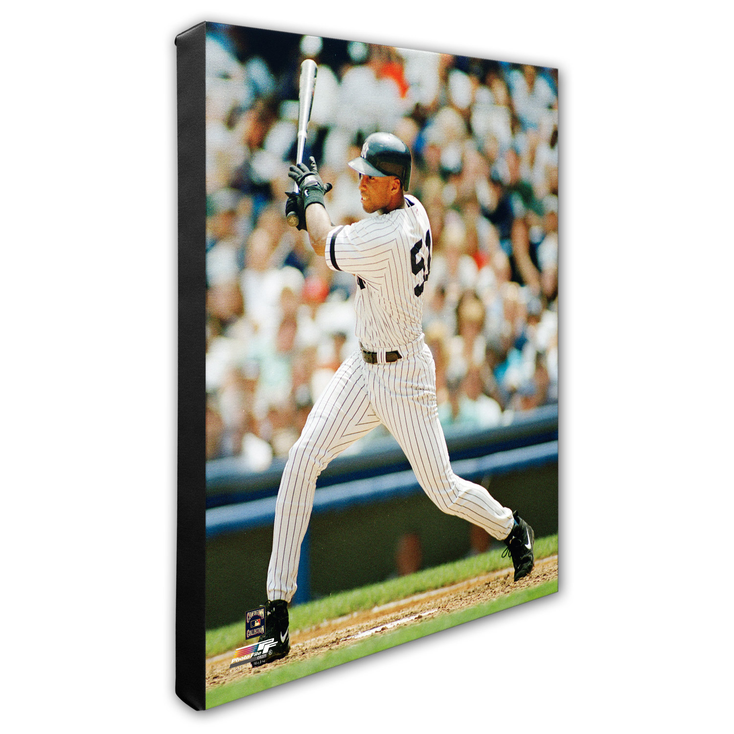 "New York Yankees Bernie Williams 16"" x 20"" Player Canvas - No Size"