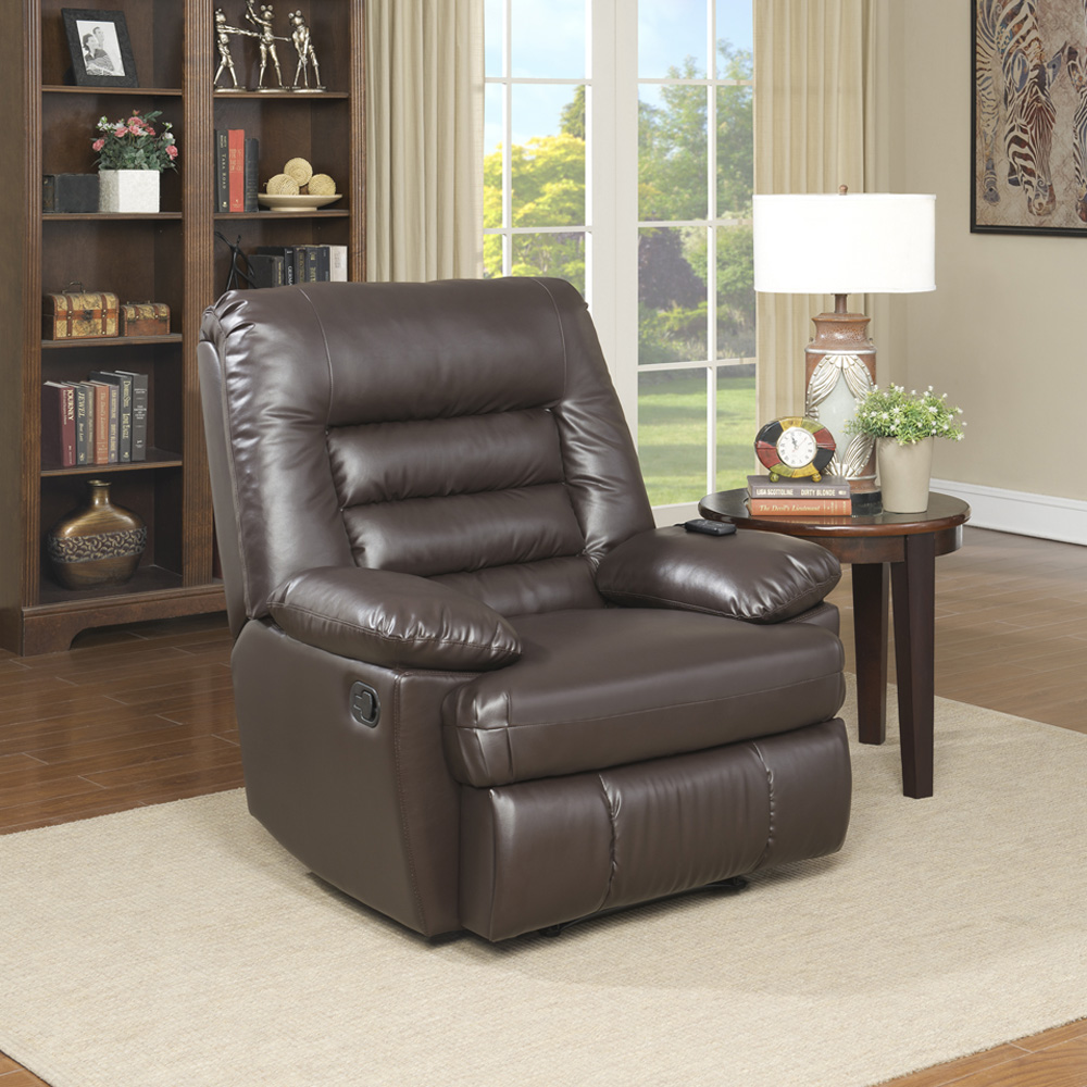 Serta big tall memory foam massage recliner multiple colors in faux leather walmart com