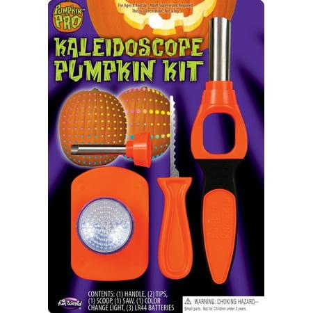 Halloween Pumpkin Kaleidoscope Jack O Lantern Poking Carving Tool Kit W/