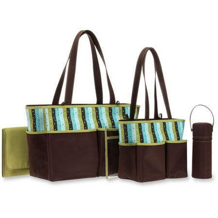 b856bda0e1 Baby Boom 5-Piece Diaper Bag Set, Stripes - Walmart.com