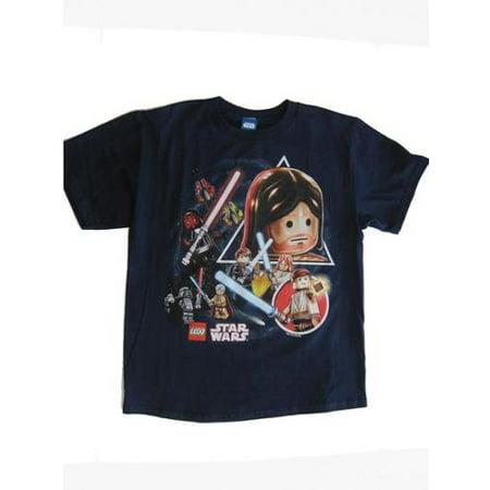 35e8cc4f0 Boys Navy Star Wars Mini Figures Graphic Print Short Sleeve T-Shirt ...