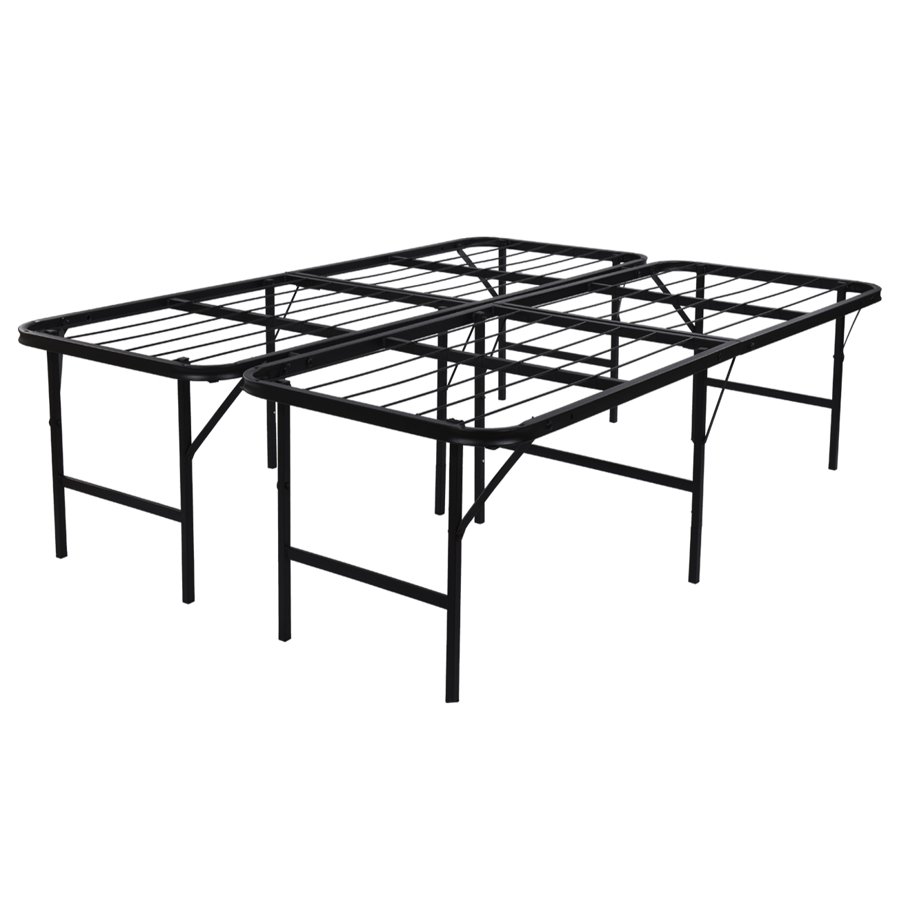 "Belleze 17"" Inch Platform Bed Frame   Box Spring Replacement   Maximum Under-Bed Storage, Twin by Belleze"