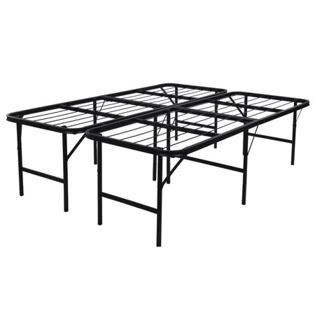 Belleze Foldable Bed Frame Queen Size Inch Height UnderBed - 17 inch high coffee table