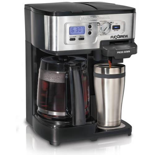 Hamilton Beach 12-Cup 2-Way FlexBrew Coffee Maker, 49983, Silver/Black