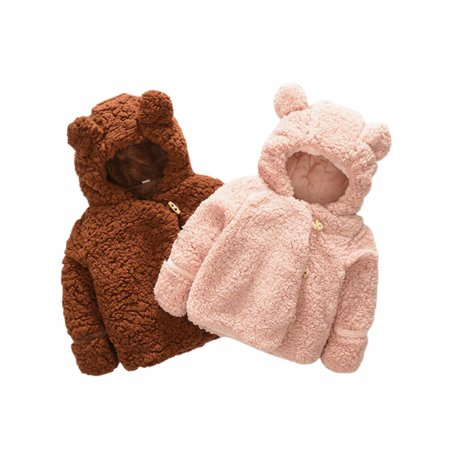 Pudcoco Baby Coats 2019 New Autumn Winter Kids Clothes Cute Hooded Jackets For Girls Boys Cartoon Infant Sweaters