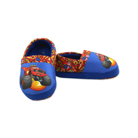 Cookie Monster Slipper (Blaze and the Monster Machines Boys Toddler Plush Aline Slippers CH23422)