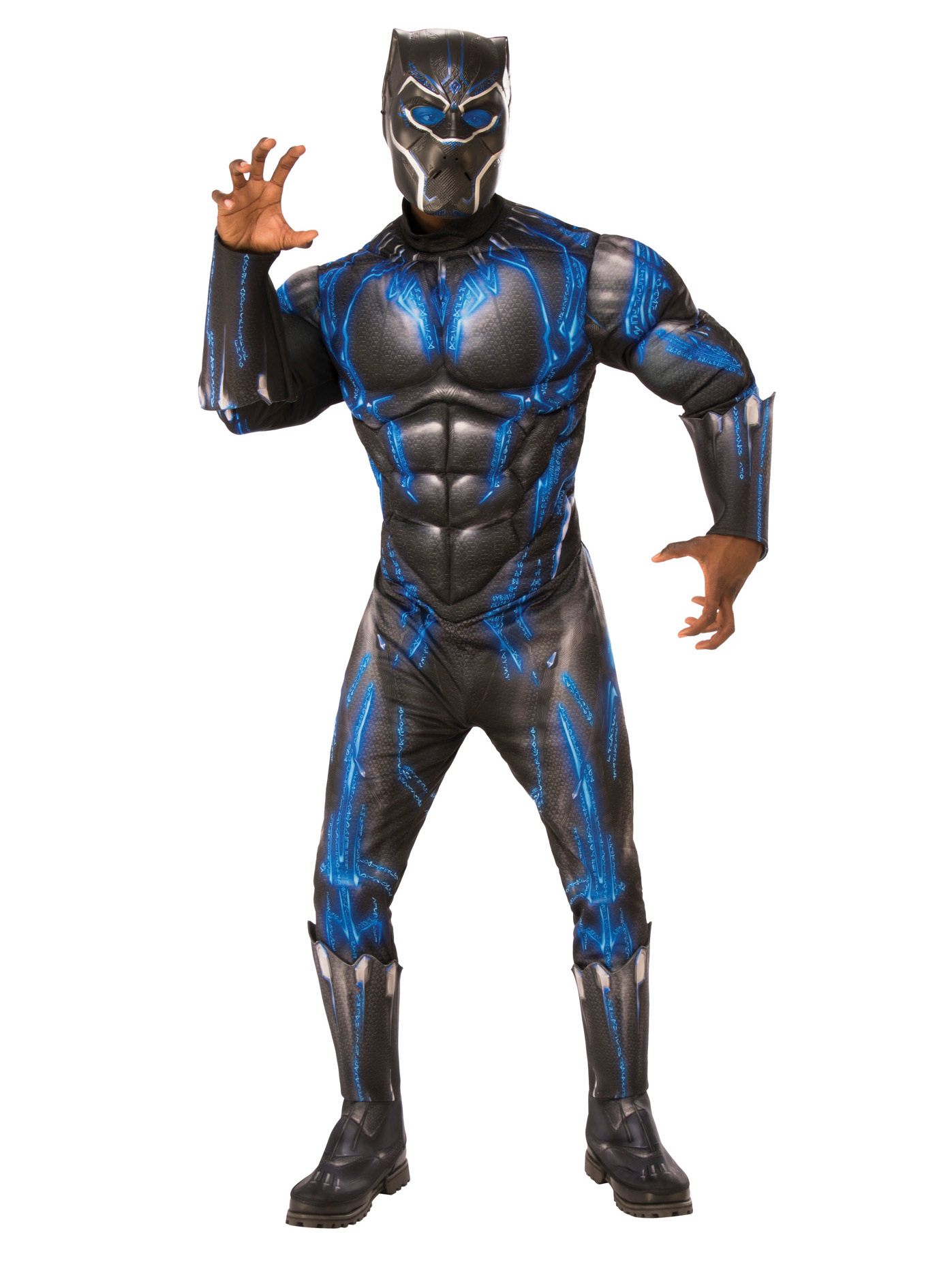 Marvel Black Panther Movie Mens Deluxe Black Panther Battle Suit Halloween Costume - Walmart.com  sc 1 st  Walmart & Marvel Black Panther Movie Mens Deluxe Black Panther Battle Suit ...