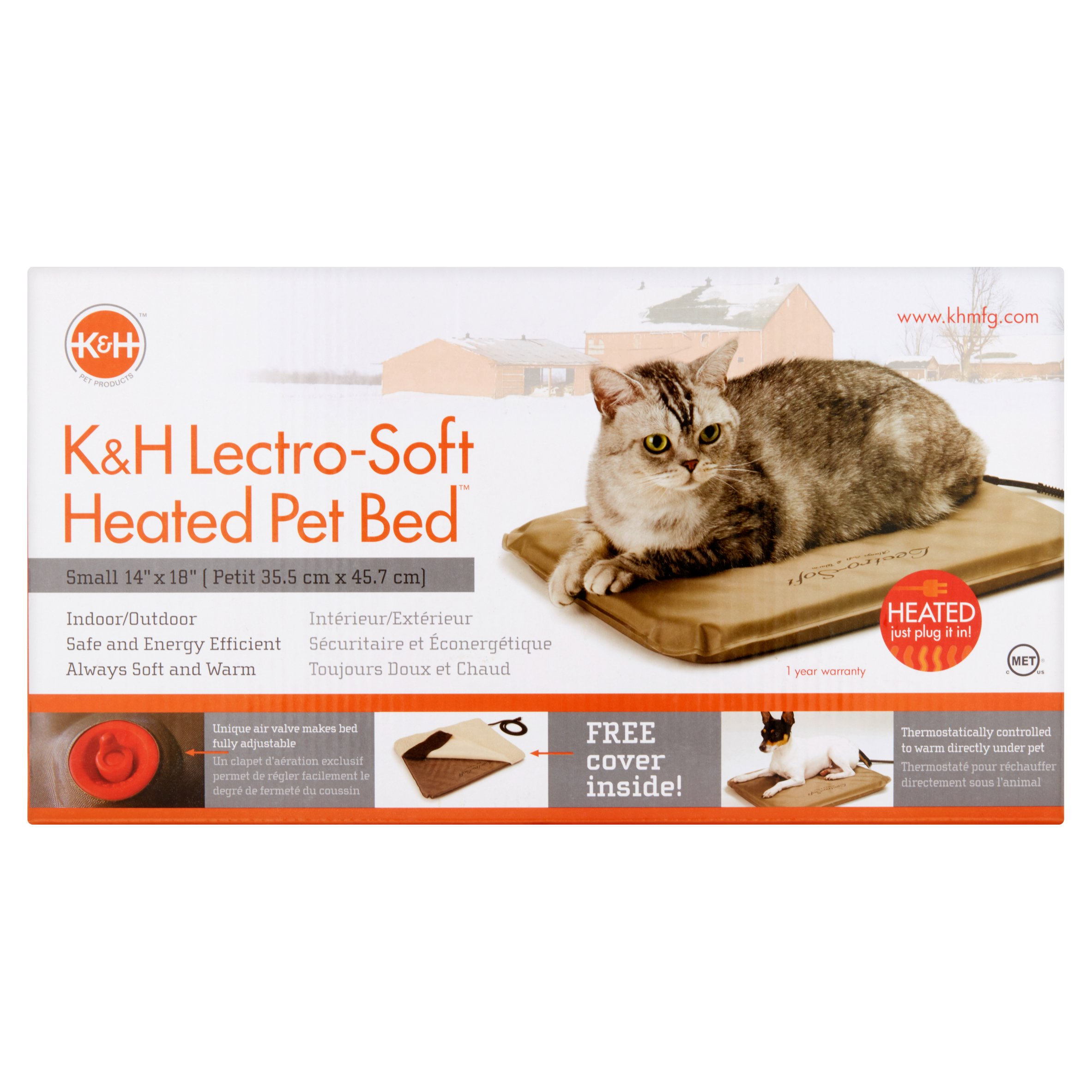 Cool Kh Lectro Soft Outdoor Heated Bed Medium 25X36 1 5 Beige Download Free Architecture Designs Rallybritishbridgeorg