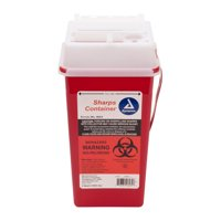 Dynarex 2 Quart Medical Grade Sharps Needle Container, RED, DYX-4623