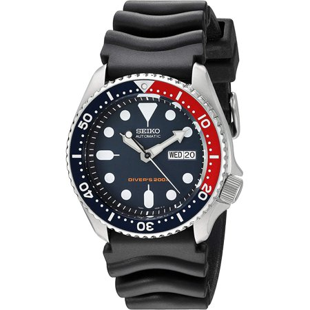 SEIKO SKX009K,Men's Automatic Diver,Self Winding,Stainless Steel Case,Silicone Strap,Screw Crown,200m WR,SKX009
