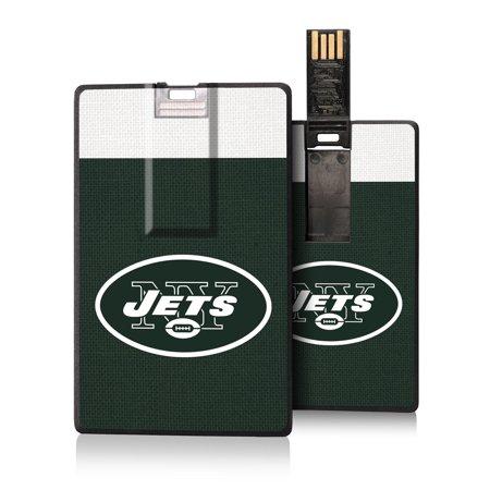 New York Jets Striped Credit Card USB Drive - No Size