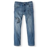 365 Kids From Garanimals Embroidered Unicorn Side Tape Jean (Little Girls & Big Girls)