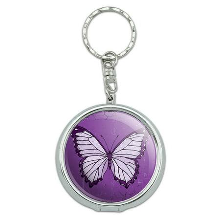 Butterfly Artsy Purple Portable Ashtray Keychain