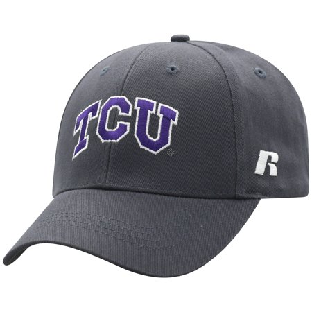 Men's Russell Charcoal TCU Horned Frogs Endless Adjustable Hat - OSFA - Vikings Hat With Horns