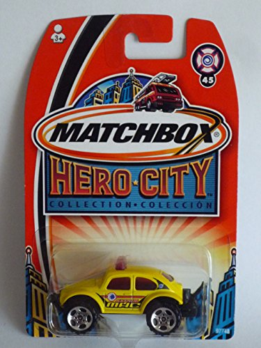 Matchbox Hero City #45 Volkswagen VW Beetle Bug 4x4 YELLOW 1:64 Scale Collectible Die Cast... by Mattel