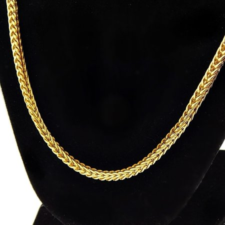 Gold Mens Franco Chain (18k Gold Plated Franco Link Chain 30