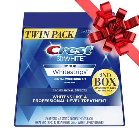 Crest 3D White Professional Effects Whitestrips Teeth Whitening Strips Kit, 40 Treatments, Twin