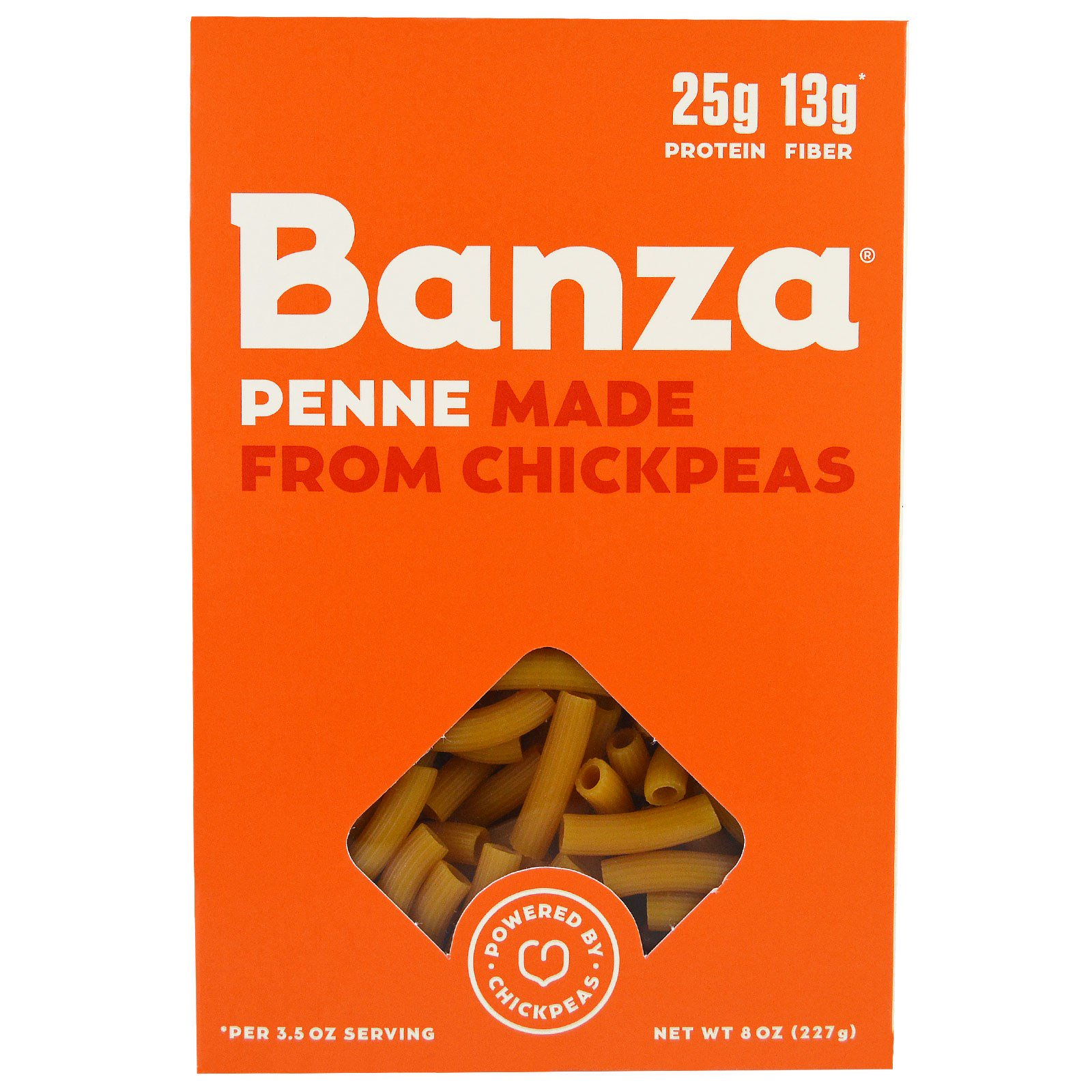 Banza, Penne Chickpeas, Pasta, 8 oz (pack of 4)
