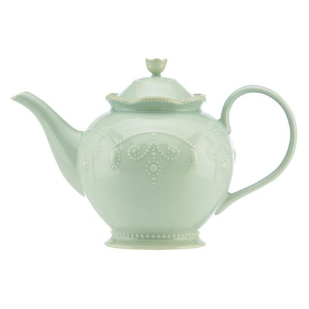 Lenox French Perle Ice Blue Teapot