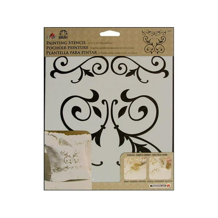 Plaid FolkArt Painting Stencil Scroll, 1 Each