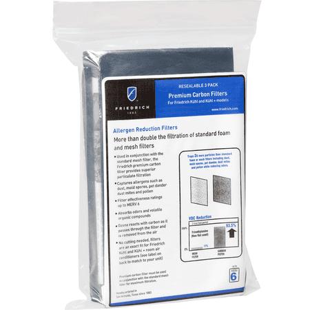 Friedrich KWCFL Premium Carbon Filters (3 -