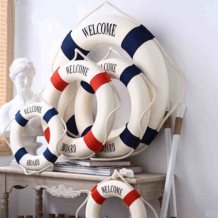 Supply lifebuoy home decoration Mediterranean style crafts factory direct foam lifebuoy - Factory Direct Crafts