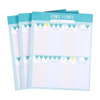 Pack of 3 Magnetic Weekly Meal Planners - Tear Off Planner with Magnets, 52 Sheets Each, 7.5 x 9.5 Inches