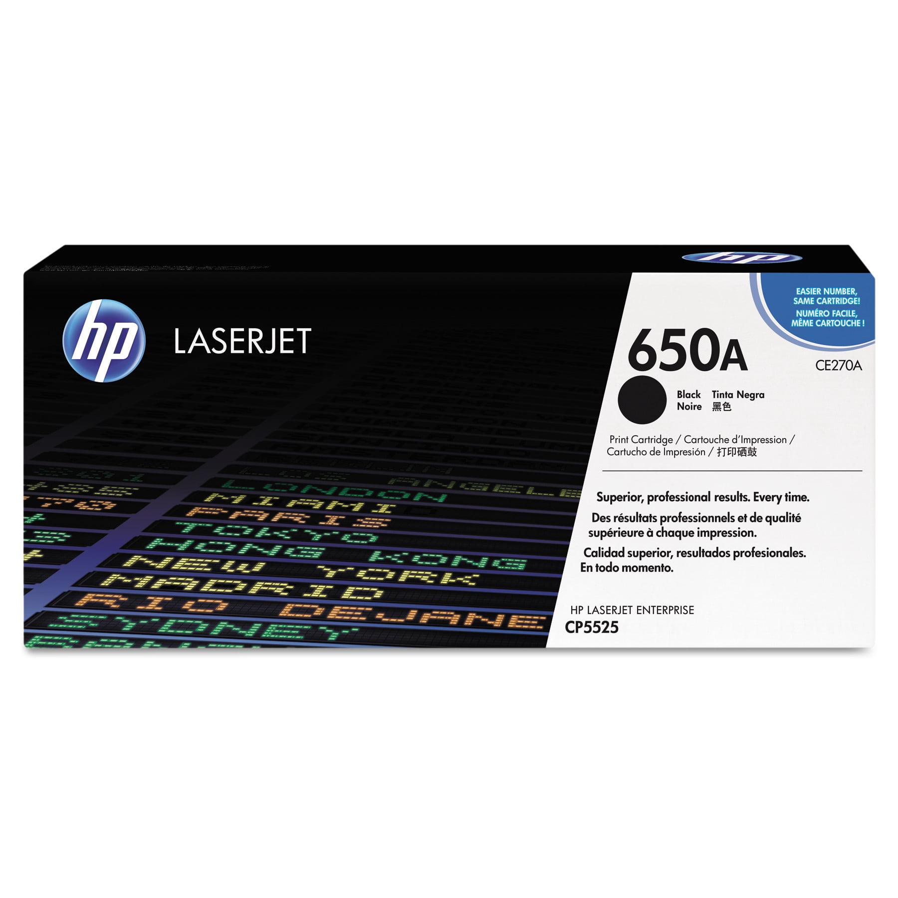 HP HP 650A, (CE270A) Black Original LaserJet Toner Cartridge by HP