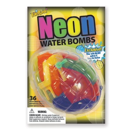 Party Supplies - Pioneer Neon Water Bombs Balloons Fun Pack 30607](Balloon Bombs)