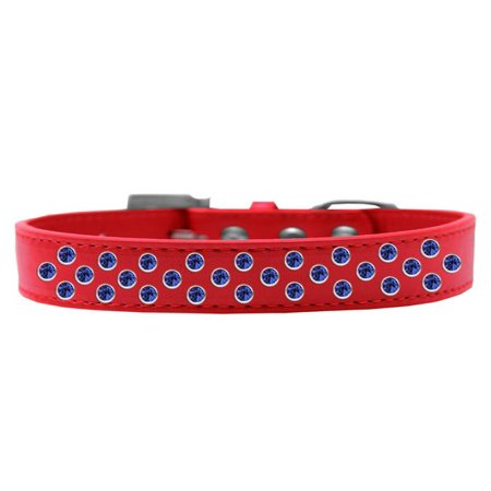 Mirage 615 03 Rd 18 Sprinkles Dog Collar Blue Crystals Red   Size 18