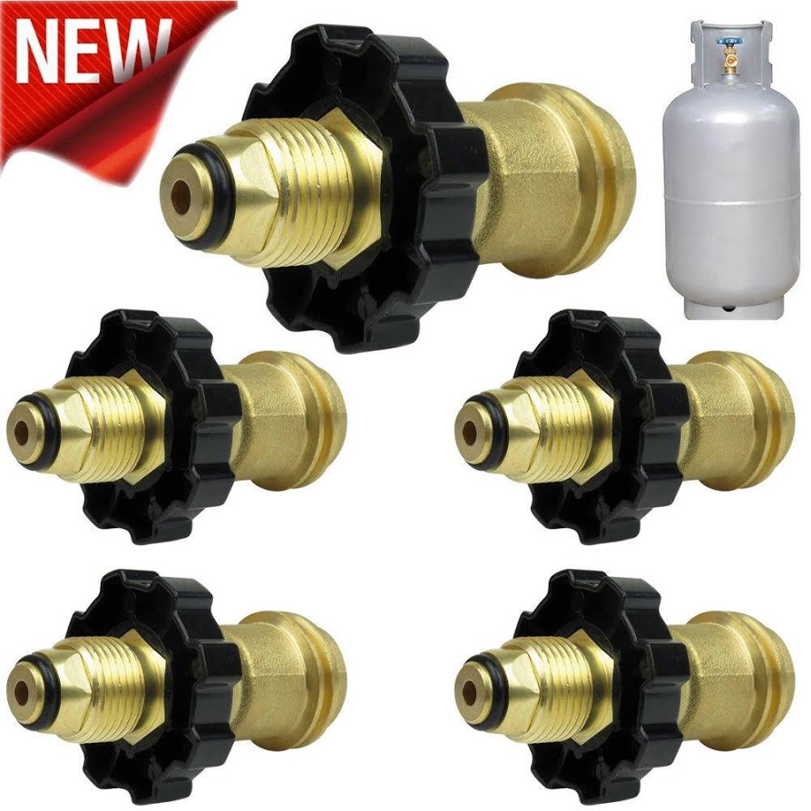 Fit Propane Tank Adapter POL to Qcc1 Wrench to Hand Tighten- Universal