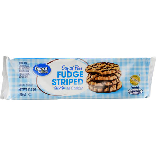 Great Value Fudge Striped Shortbread Cookies, Sugar Free, 11.5 oz