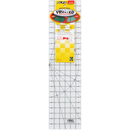 Olfa Frosted Advantage Non-Slip Ruler  The Essential -6 X24