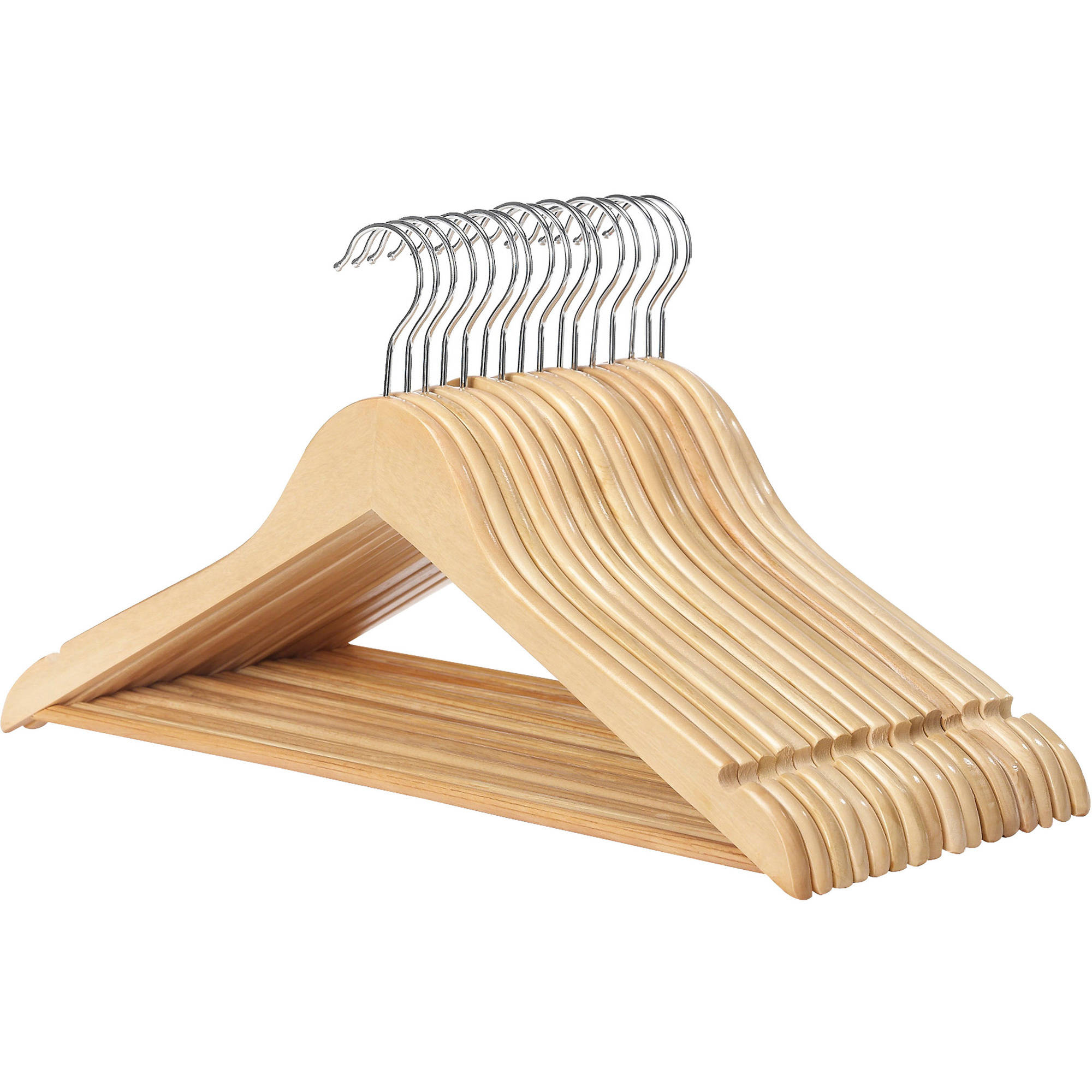Whitmor Wood Suit Hangers, Set of 16