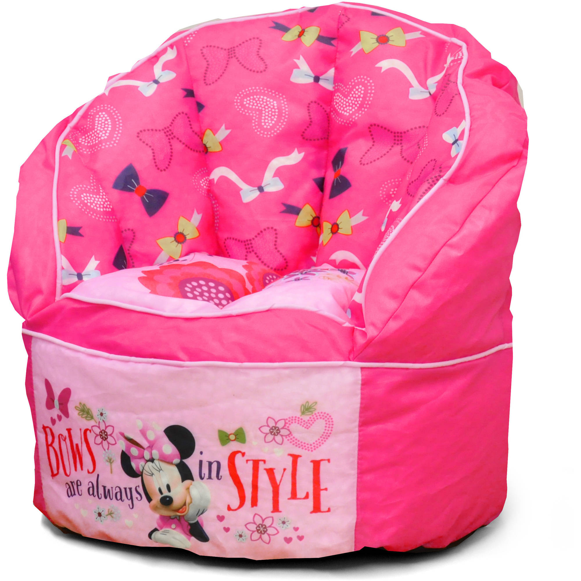 Disney Minnie Mouse Sofa Bean Chair with Piping