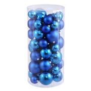 Christmas at Winterland WL-ORNTUBE-80-BL 3-Inch Plastic Shatterproof Blue Ball O