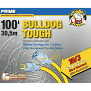 Prime LT511935 100' 10/3 SJTOW Yellow Bulldog Tough Extension Cord