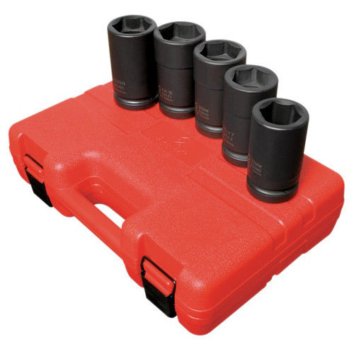 Sunex 5626 5-Piece 1 in. Drive Combination Budd Wheel Impact Socket Set