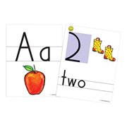 handwriting without tears color print and number wall card, 8-1/2 x 11 in, pack of 36