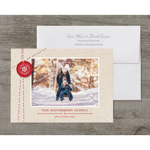 Holiday Twine and Tag Holiday Card