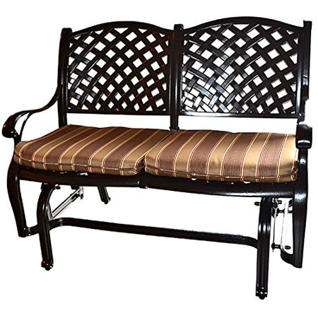 Pleasant Bench Glider Outdoor Aluminum 2 Person 45 Inch Sunbrella Seat Cushion Patio Deck Caraccident5 Cool Chair Designs And Ideas Caraccident5Info