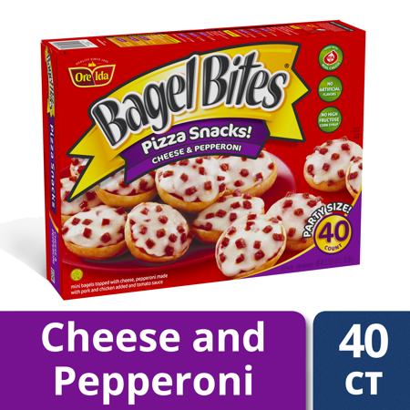 Bagel Bites Cheese Pepperoni Pizza Snacks 40 Count Box Walmart