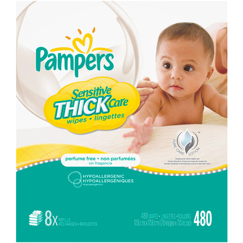 Pampers Sensitive Thick Wipes 8x