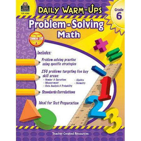 Daily Warm-Ups: Problem Solving Math Grade 6 3rd Grade Math Problem Solving