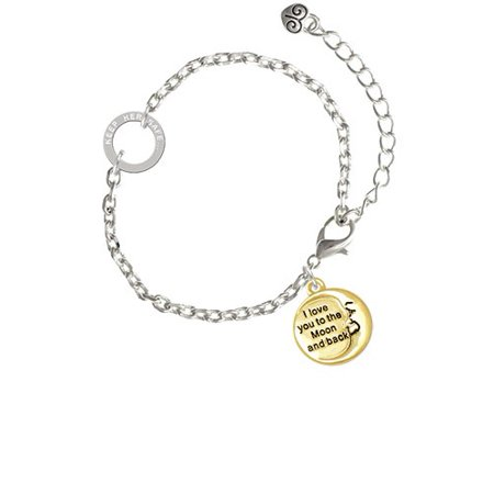 Gold Tone I Love You to the Moon and Back - Keep Her Safe Ring Zoe Bracelet
