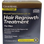 Good Sense Minoxidil 5 Percent 90 Day Topical Solution Hair Regrow Treatment for Men - Case of 6