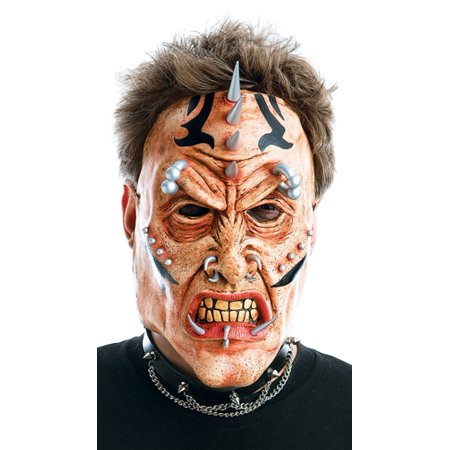 Scary Tattoo Pierced Heavy Metal Zombie Halloween Mask Adult Standard